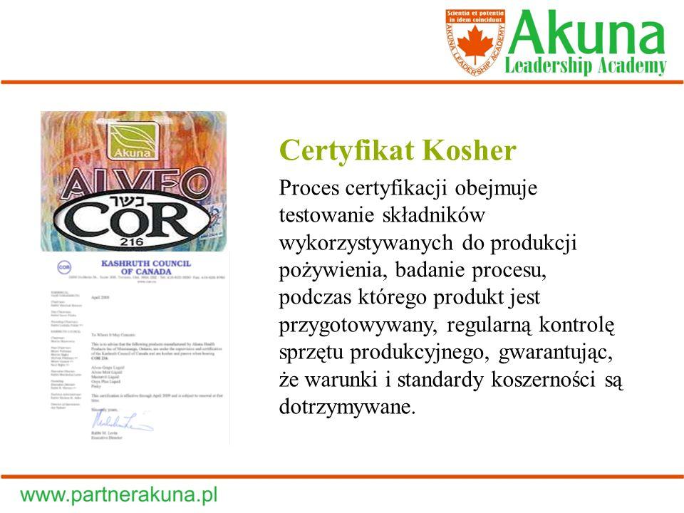 Certyfikat Kosher Proces certyfikacji obejmuje testowanie składników wykorzystywanych do produkcji pożywienia, badanie procesu, podczas którego produk