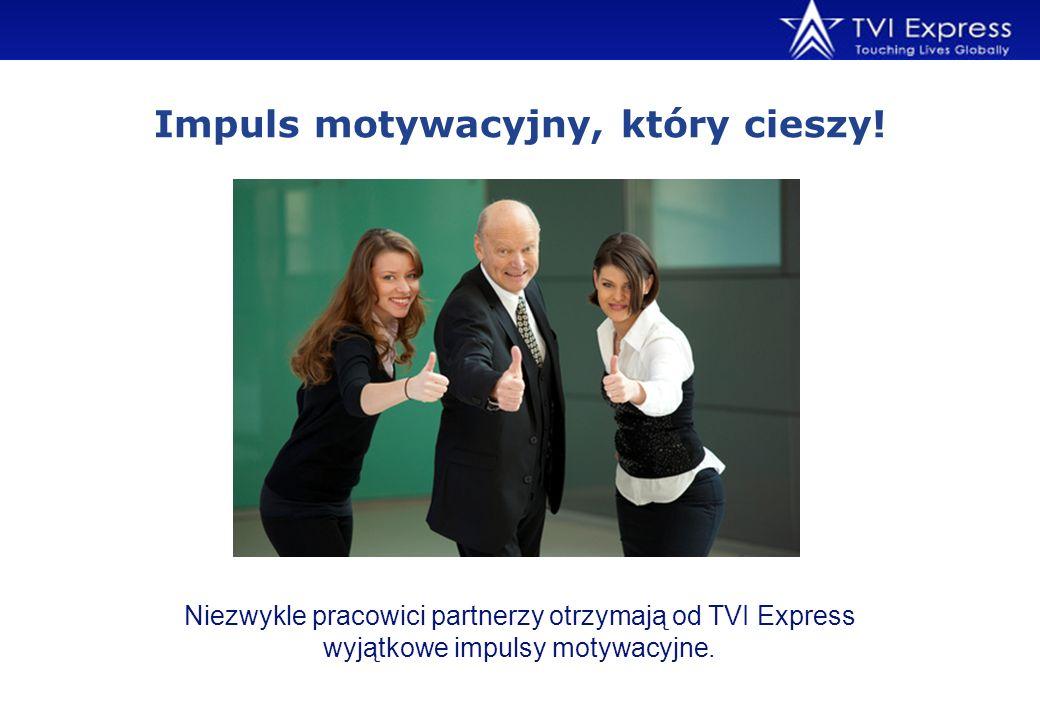 Niezwykle pracowici partnerzy otrzymają od TVI Express wyjątkowe impulsy motywacyjne. Impuls motywacyjny, który cieszy!