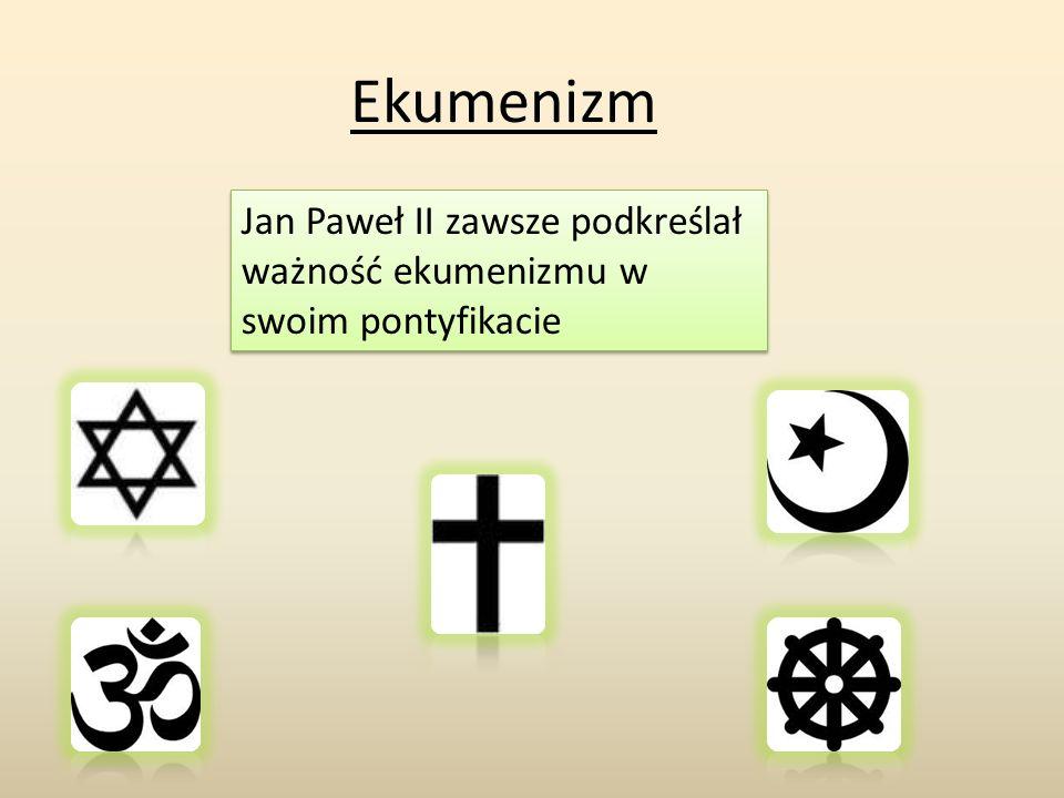 Jan Paweł II zawsze podkreślał ważność ekumenizmu w swoim pontyfikacie Ekumenizm
