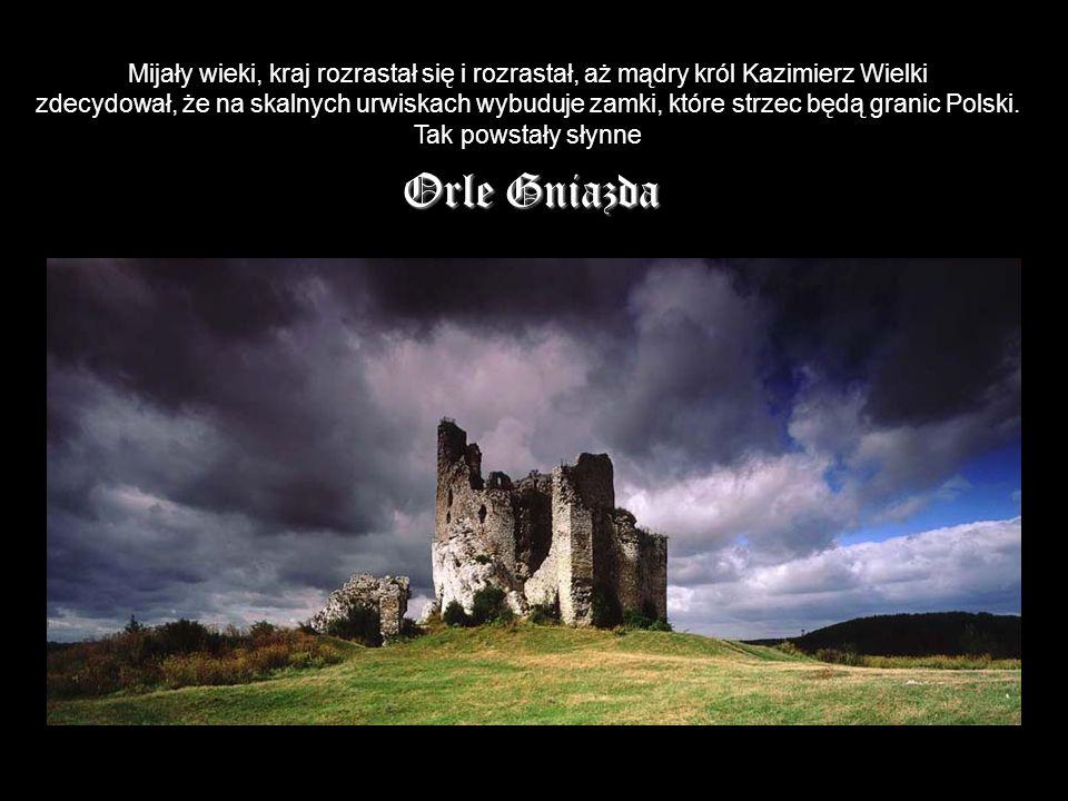Mijały wieki, kraj rozrastał się i rozrastał, aż mądry król Kazimierz Wielki zdecydował, że na skalnych urwiskach wybuduje zamki, które strzec będą granic Polski.