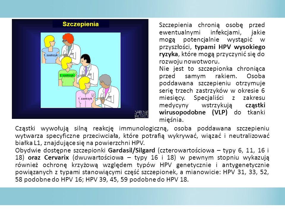 Szczepienia chronią osobę przed ewentualnymi infekcjami, jakie mogą potencjalnie wystąpić w przyszłości, typami HPV wysokiego ryzyka, które mogą przyczynić się do rozwoju nowotworu.