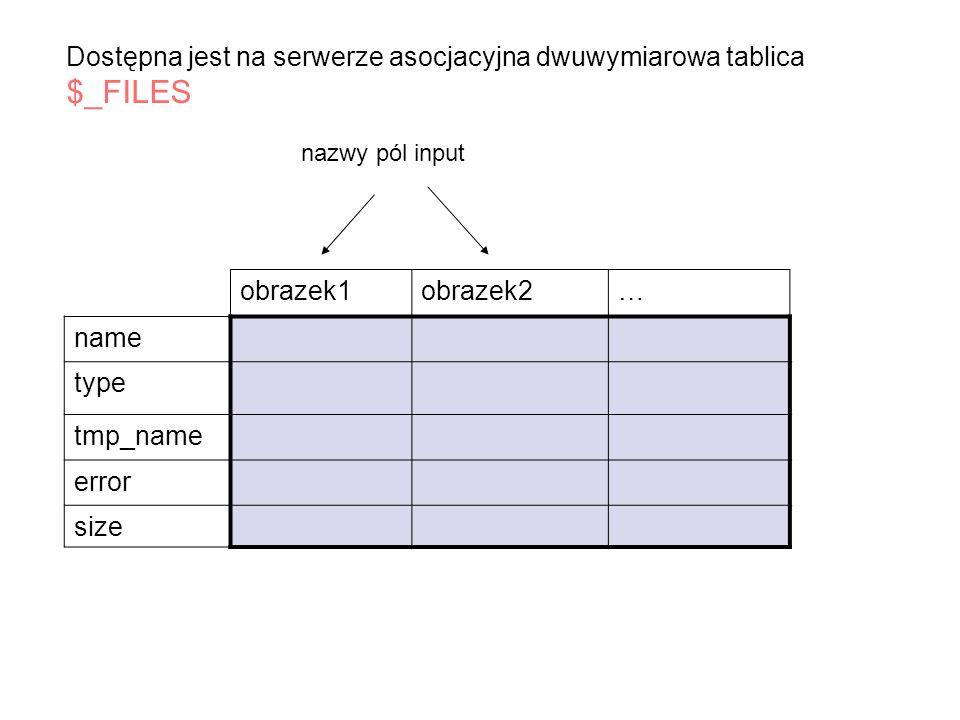 Wyświetlenie wyników kwerendy mysql_fetch_array($wynik) mysql_fetch_row ( $wynik) Funkcje ich argumentem jest zmienna będąca wynikiem zapytania, efektem jest tabela z danymi jeśli jest to zapytanie SELECT