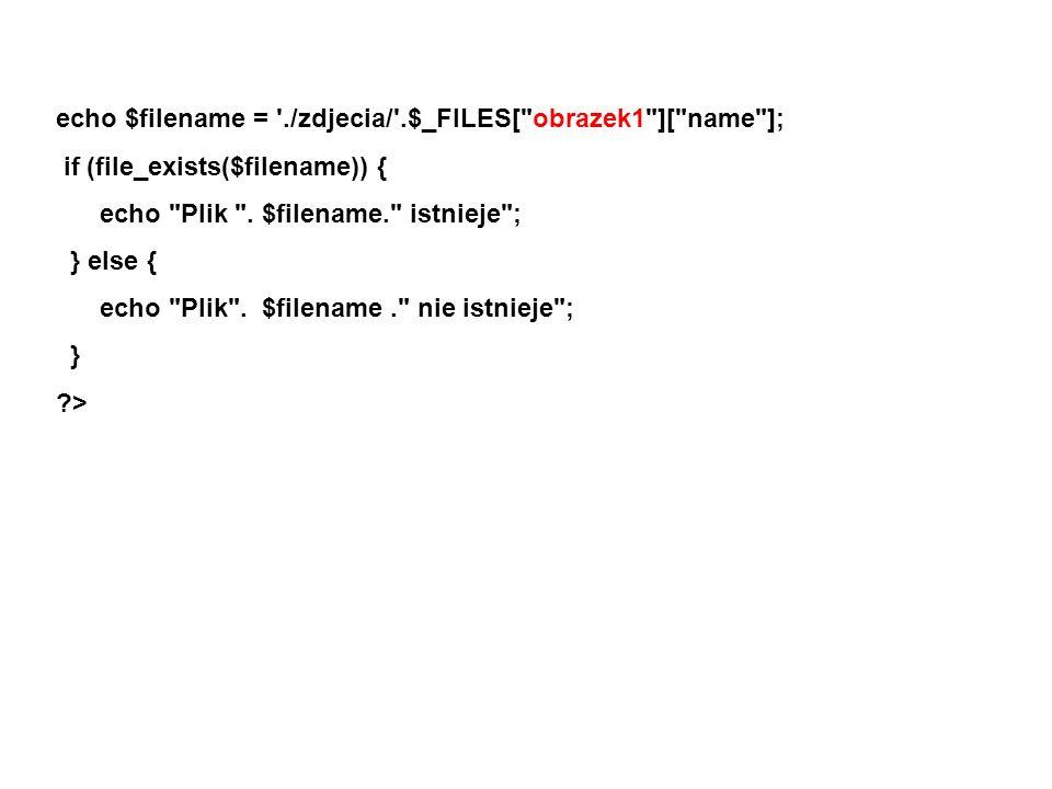 echo $filename = './zdjecia/'.$_FILES[