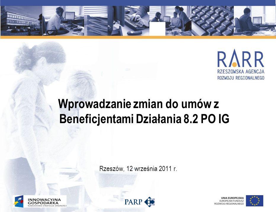 RIF jest uprawniona do zawierania aneksów do Umowy o dofinansowanie bez konieczności uzyskiwania zgody IW w następujących przypadkach: 1.