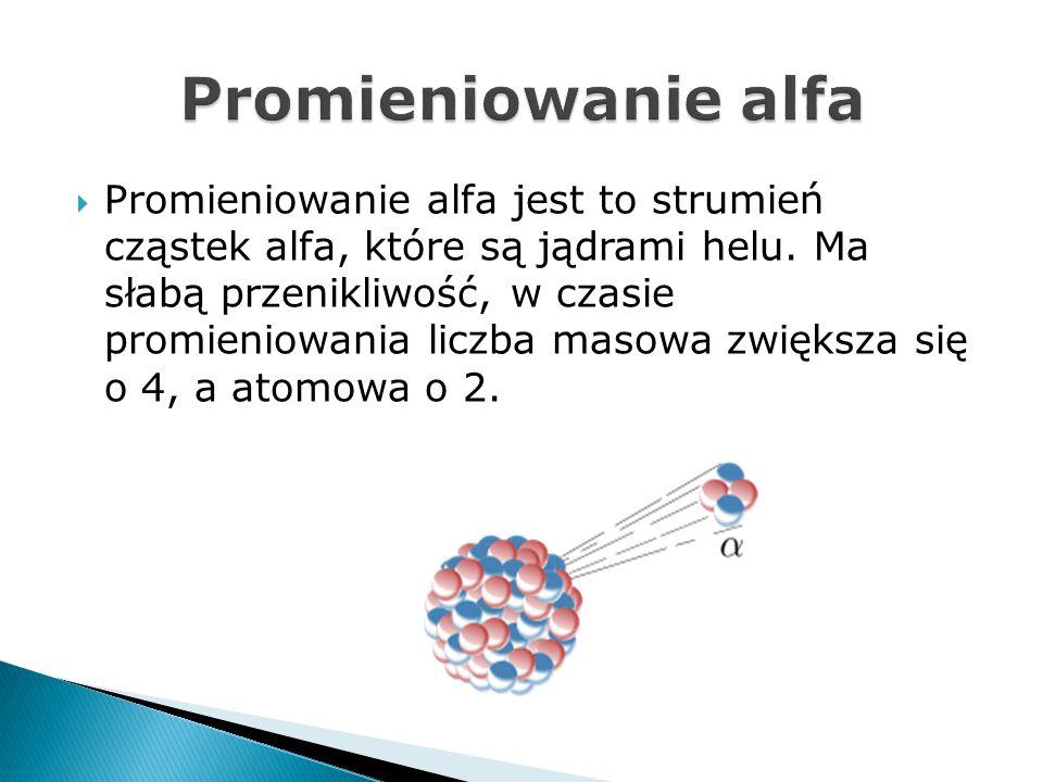 Promieniowanie beta jest to rodzaj promieniowania jonizującego, średniej przenikliwości.