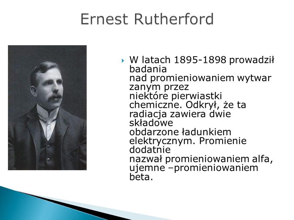 W latach 1895-1898 prowadził badania nad promieniowaniem wytwar zanym przez niektóre pierwiastki chemiczne. Odkrył, że ta radiacja zawiera dwie składo
