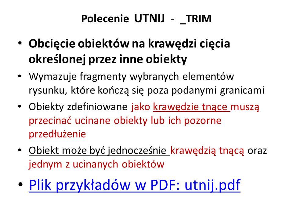 Zestaw przykładów do Przedłuż _LENGTHEN: plik PDF przedluz2000.pdf, Plik DWG: przedluz2000.dwgprzedluz2000.pdfprzedluz2000.dwg