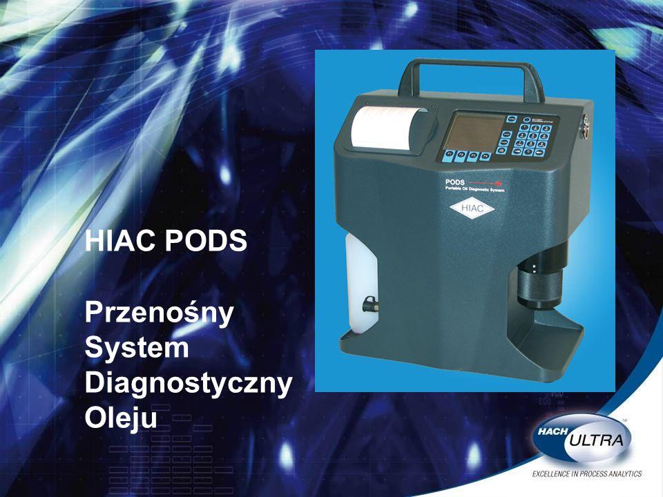 HIAC PODS Przenośny System Diagnostyczny Oleju