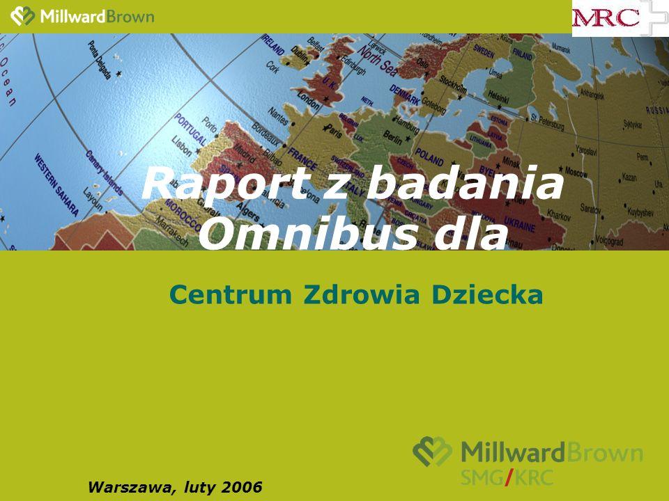 Raport z badania Omnibus dla Centrum Zdrowia Dziecka Warszawa, luty 2006