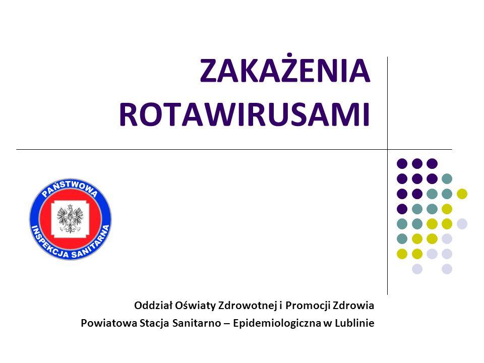 ZAKAŻENIA ROTAWIRUSAMI Oddział Oświaty Zdrowotnej i Promocji Zdrowia Powiatowa Stacja Sanitarno – Epidemiologiczna w Lublinie