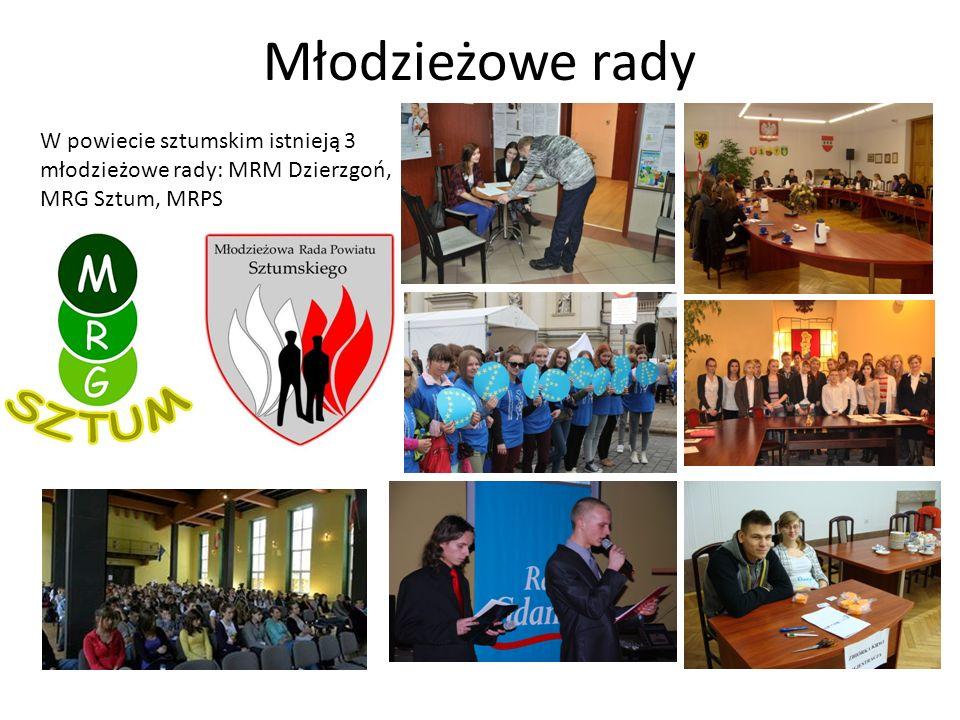 Młodzieżowe rady W powiecie sztumskim istnieją 3 młodzieżowe rady: MRM Dzierzgoń, MRG Sztum, MRPS