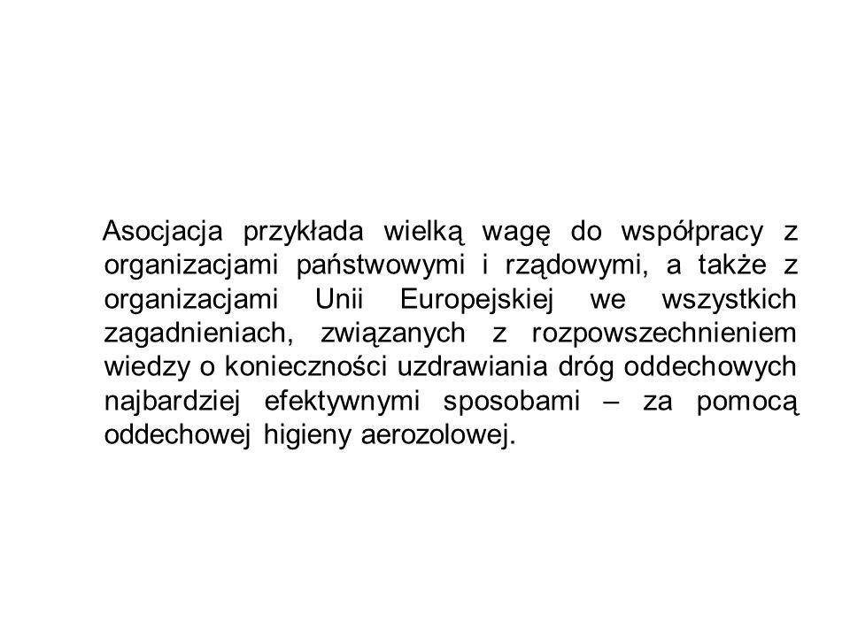 Asocjacja przykłada wielką wagę do współpracy z organizacjami państwowymi i rządowymi, a także z organizacjami Unii Europejskiej we wszystkich zagadni