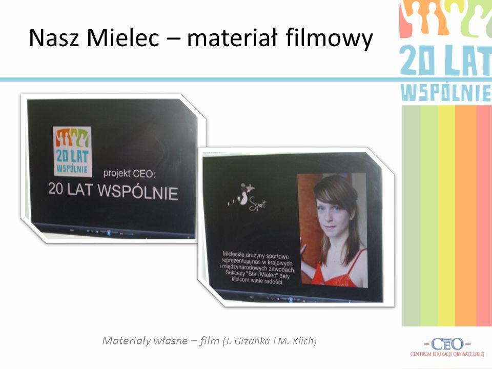 Nasz Mielec – materiał filmowy Materiały własne – film (J. Grzanka i M. Klich)