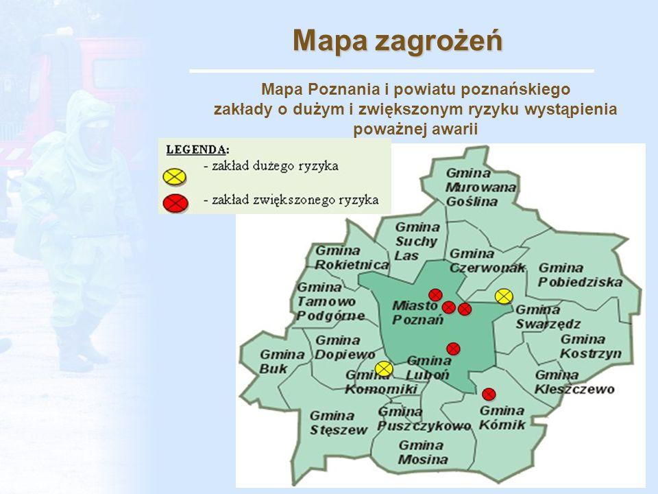 Wyposażenie Specjalistyczna Grupa Ratownictwa Chemicznego i Ekologicznego KM PSP w Poznaniu, dysponuje następującym wyposażeniem: - samochodem ratownictwa chemiczno-ekologicznego, - samochód ratownictwa technicznego, - samochód ratowniczo-gaśniczy, - samochód rozpoznawczo-ratowniczy, - kontener dekontaminacyjny, - przenośną zaporę przeciwolejową, - statek wodny (łódź), - separator olejowy, - zbiornik kontenerowy (do zbierania substancji niebezpiecznych)