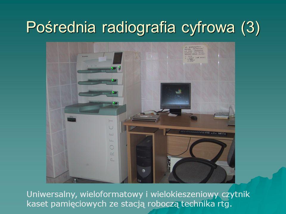 Pośrednia radiografia cyfrowa (3) Uniwersalny, wieloformatowy i wielokieszeniowy czytnik kaset pamięciowych ze stacją roboczą technika rtg.