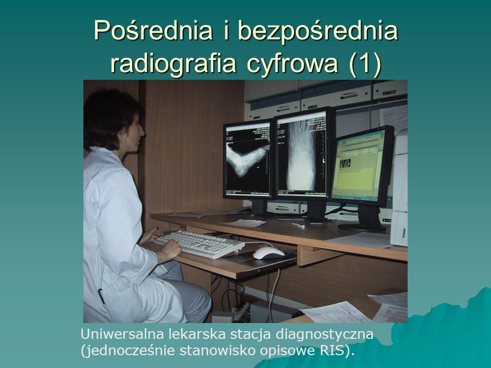 Pośrednia i bezpośrednia radiografia cyfrowa (1) Uniwersalna lekarska stacja diagnostyczna (jednocześnie stanowisko opisowe RIS).