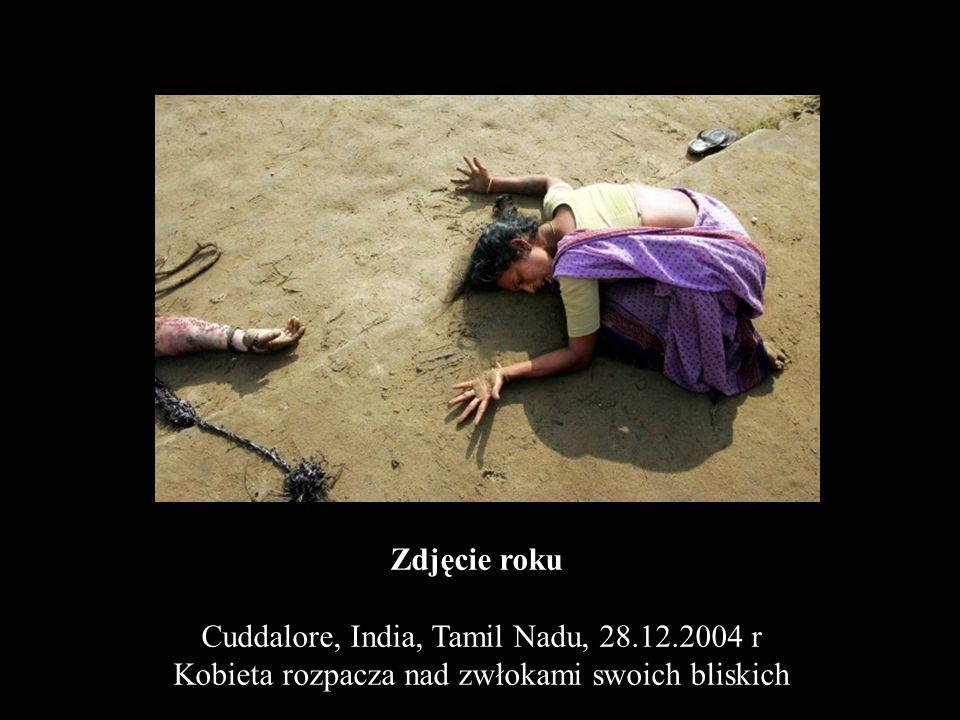 Zdjęcie roku Cuddalore, India, Tamil Nadu, 28.12.2004 r Kobieta rozpacza nad zwłokami swoich bliskich