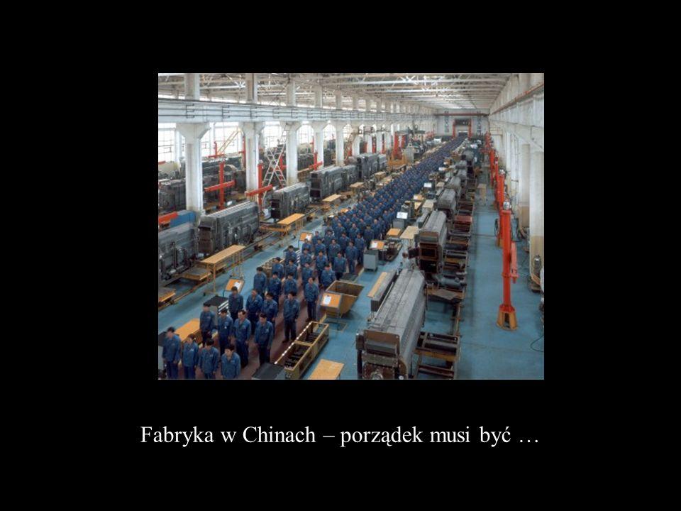 Fabryka w Chinach – porządek musi być …