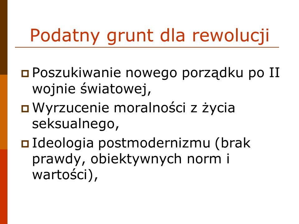 Podatny grunt dla rewolucji Poszukiwanie nowego porządku po II wojnie światowej, Wyrzucenie moralności z życia seksualnego, Ideologia postmodernizmu (