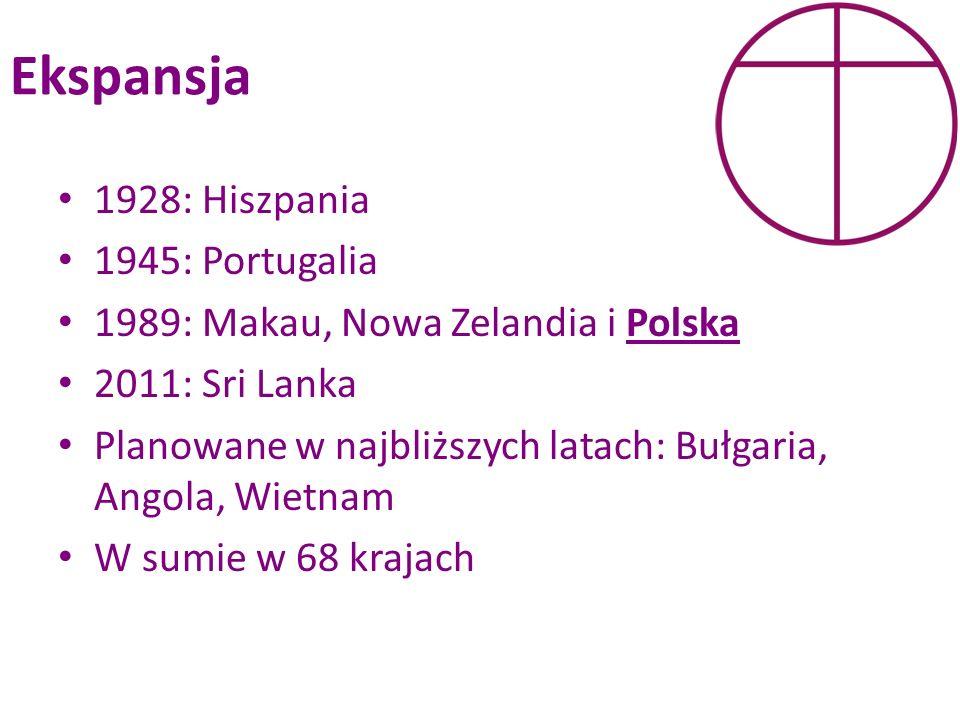 Ekspansja 1928: Hiszpania 1945: Portugalia 1989: Makau, Nowa Zelandia i Polska 2011: Sri Lanka Planowane w najbliższych latach: Bułgaria, Angola, Wiet