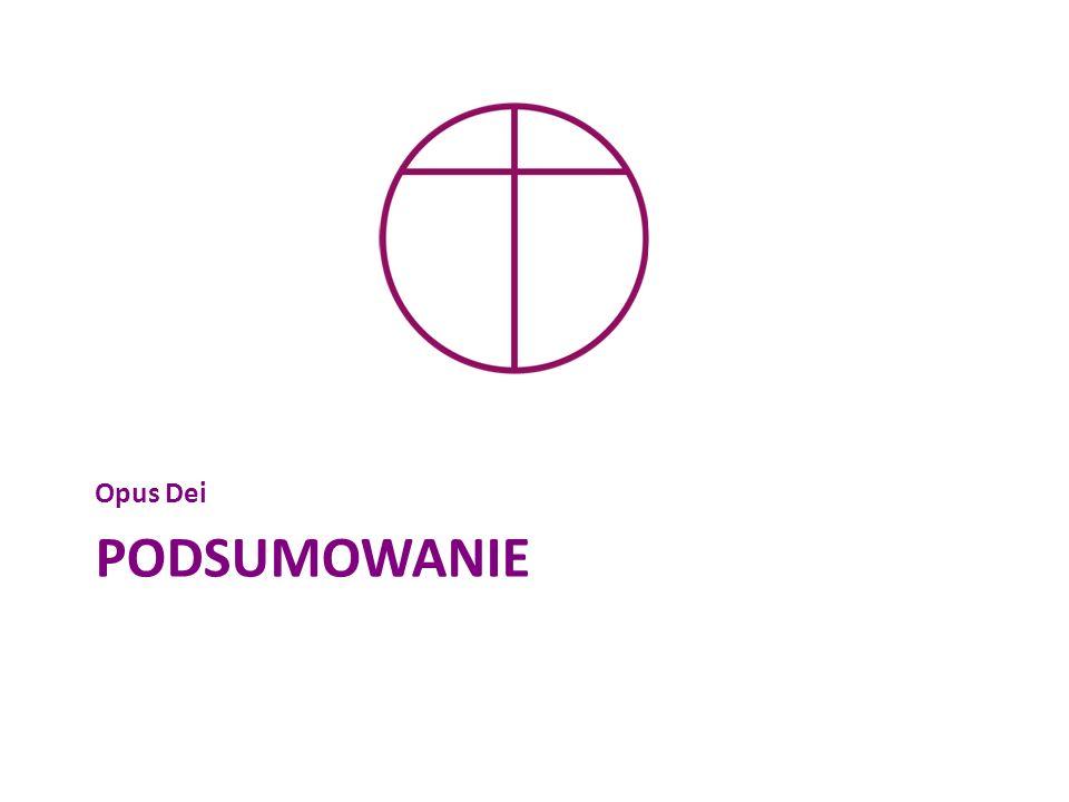 PODSUMOWANIE Opus Dei