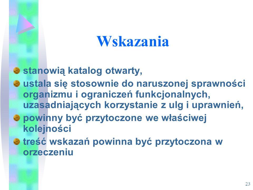 22 Symbol przyczyny niepełnosprawności Zawarty jest w orzeczeniu o niepełnosprawności, stopniu niepełnosprawności lub wskazaniach do ulg i uprawnień.
