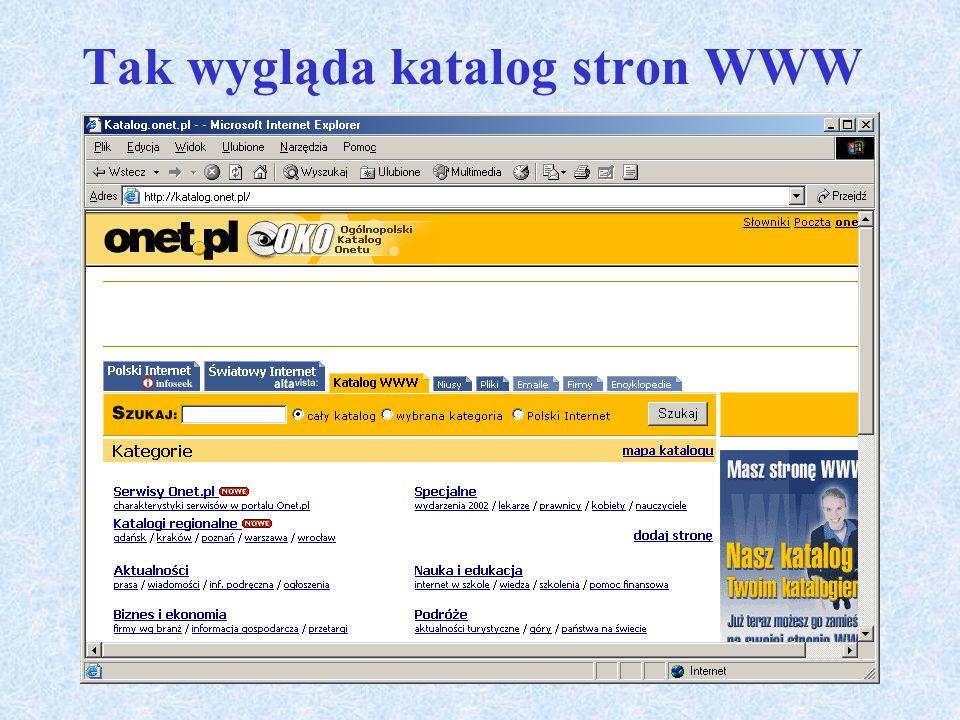Podstawowe usługi Internetu c.d. WWW Tak jak inne usługi Internetu, WWW (ang. World Wide Web globalna pajęczyna) umożliwia dostęp do informacji. Miłoś