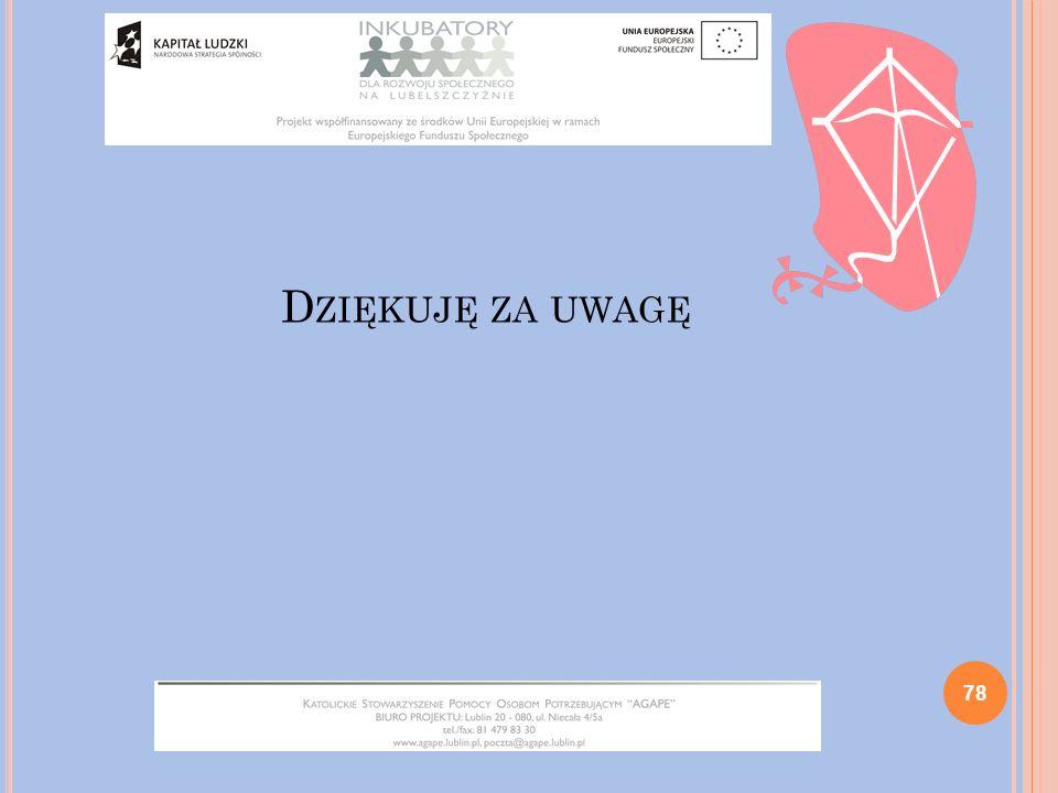 D ZIĘKUJĘ ZA UWAGĘ 78