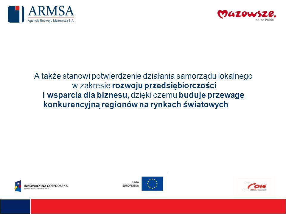 A także stanowi potwierdzenie działania samorządu lokalnego w zakresie rozwoju przedsiębiorczości i wsparcia dla biznesu, dzięki czemu buduje przewagę