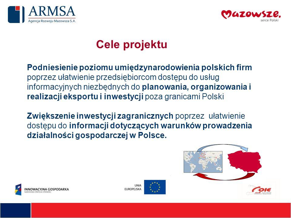 Podniesienie poziomu umiędzynarodowienia polskich firm poprzez ułatwienie przedsiębiorcom dostępu do usług informacyjnych niezbędnych do planowania, o