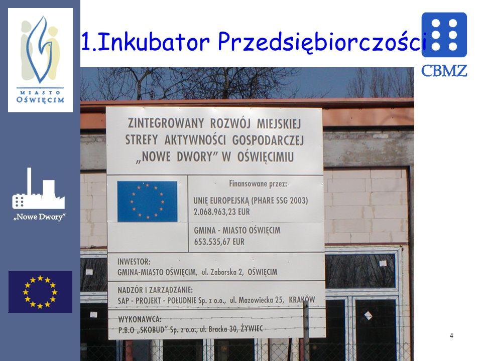 Oświęcimski Inkubator Przedsiębiorczości (OIP) rozpoczął działalność w październiku 2006 r.