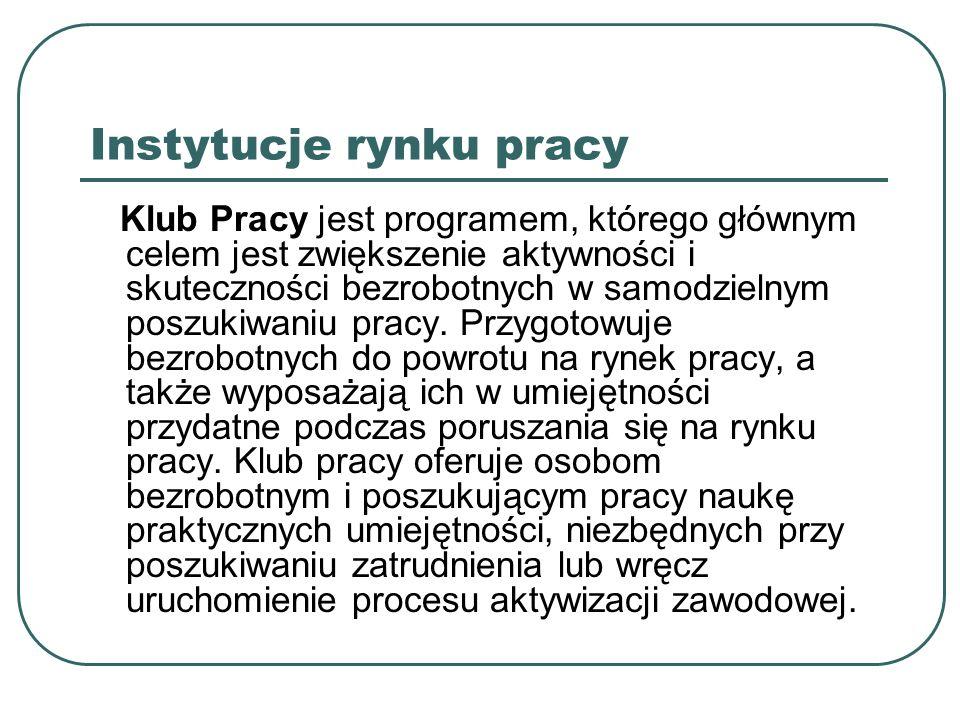 Instytucje rynku pracy 2.
