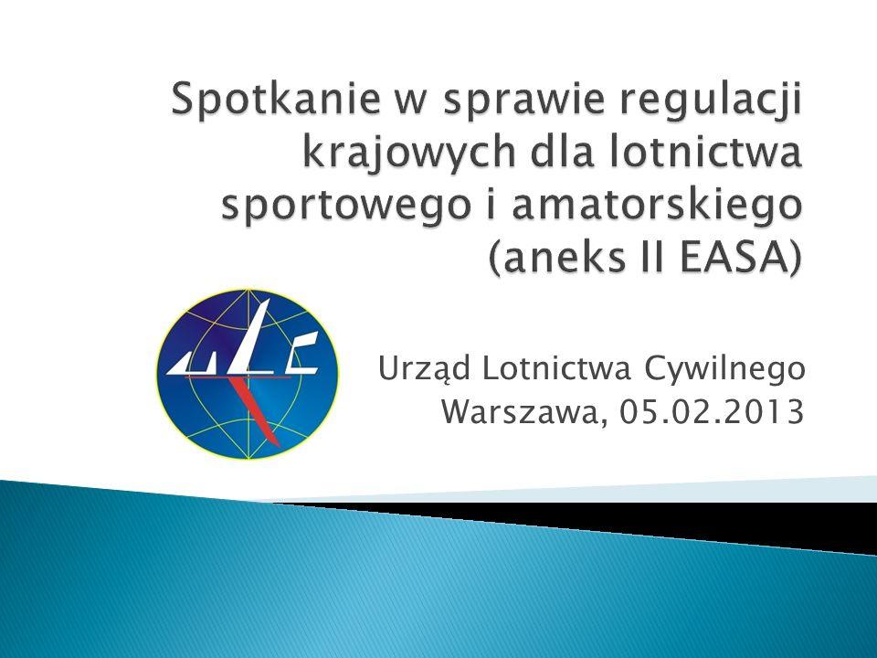 Urząd Lotnictwa Cywilnego Warszawa, 05.02.2013