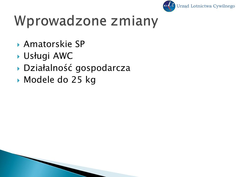 Amatorskie SP Usługi AWC Działalność gospodarcza Modele do 25 kg
