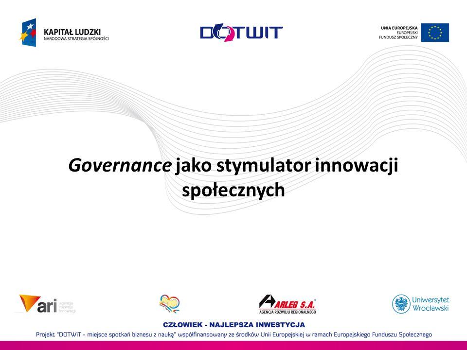 Governance jako stymulator innowacji społecznych