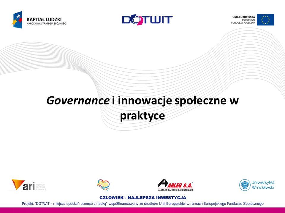 Governance i innowacje społeczne w praktyce