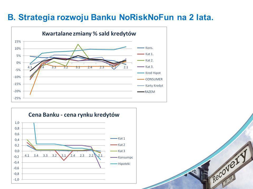 B. Strategia rozwoju Banku NoRiskNoFun na 2 lata.