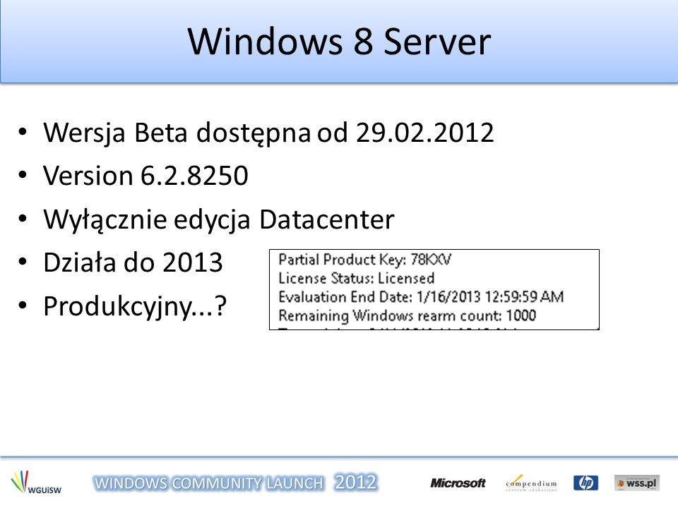 Po co klastry Dostępność usług – SQL – Serwery plików – Serwery DHCP Dostępność maszyn Hyper-V – Quick Migration – Live Migration