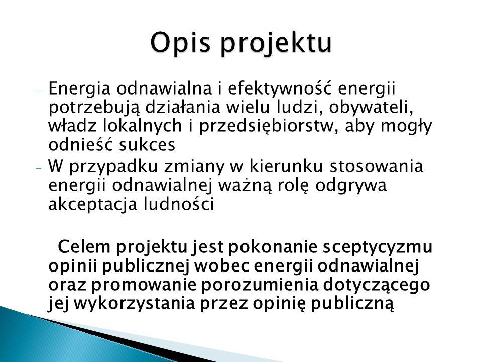 - Energia odnawialna i efektywność energii potrzebują działania wielu ludzi, obywateli, władz lokalnych i przedsiębiorstw, aby mogły odnieść sukces -