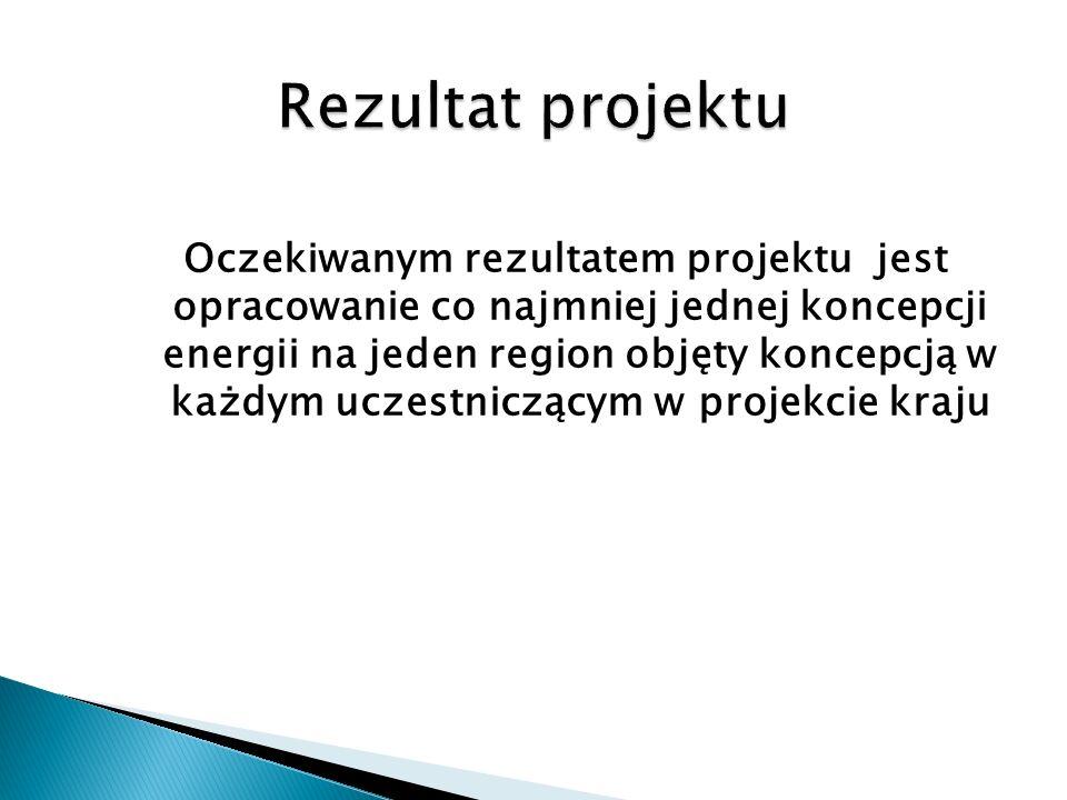 Oczekiwanym rezultatem projektu jest opracowanie co najmniej jednej koncepcji energii na jeden region objęty koncepcją w każdym uczestniczącym w proje
