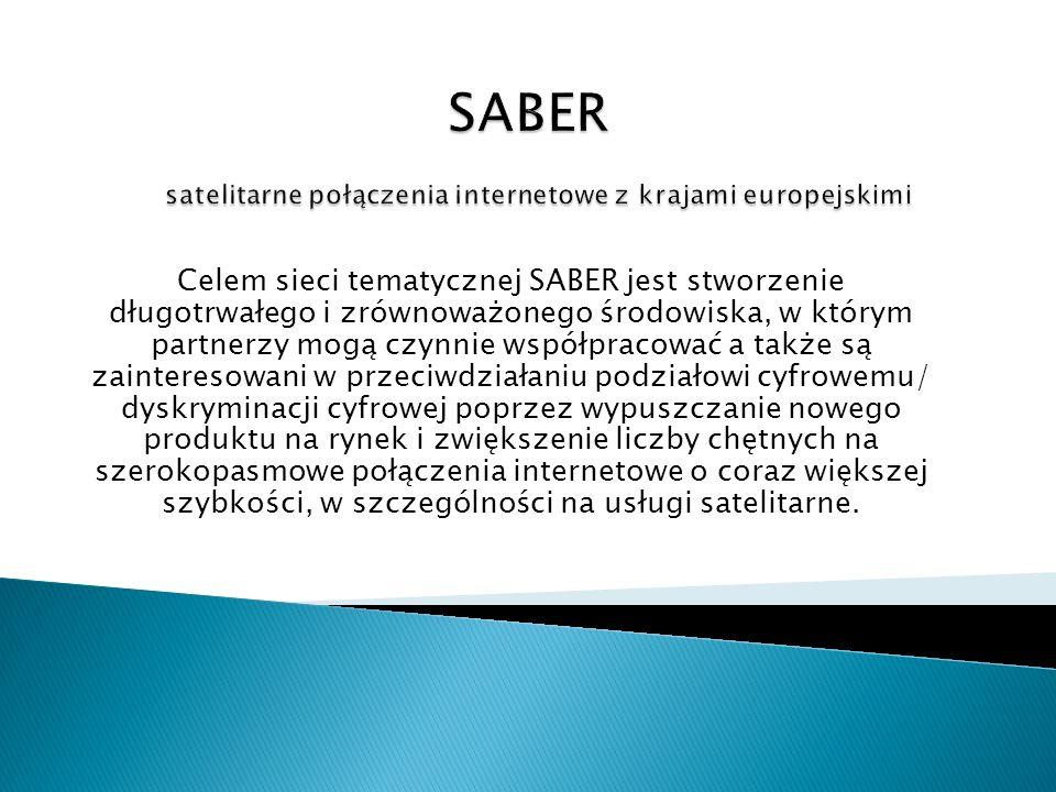 Celem sieci tematycznej SABER jest stworzenie długotrwałego i zrównoważonego środowiska, w którym partnerzy mogą czynnie współpracować a także są zain