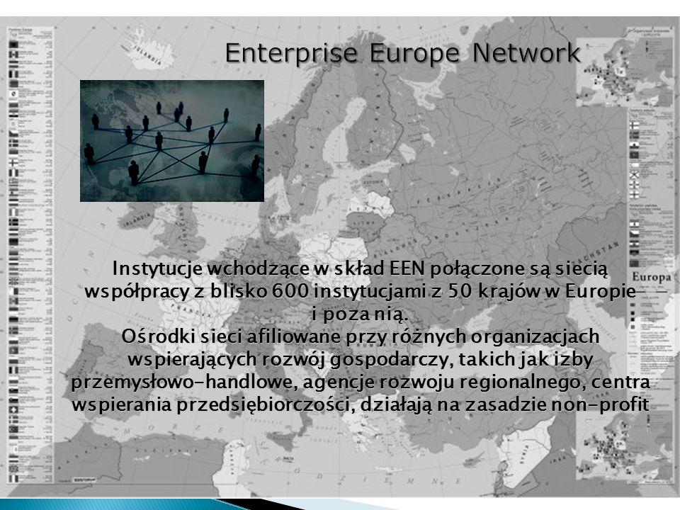 Instytucje wchodzące w skład EEN połączone są siecią współpracy z blisko 600 instytucjami z 50 krajów w Europie i poza nią. Ośrodki sieci afiliowane p