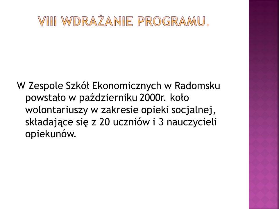 W Zespole Szkół Ekonomicznych w Radomsku powstało w październiku 2000r.