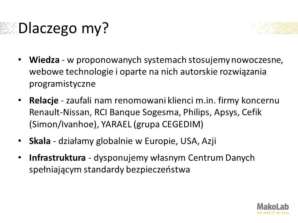 Dlaczego my? Wiedza - w proponowanych systemach stosujemy nowoczesne, webowe technologie i oparte na nich autorskie rozwiązania programistyczne Relacj