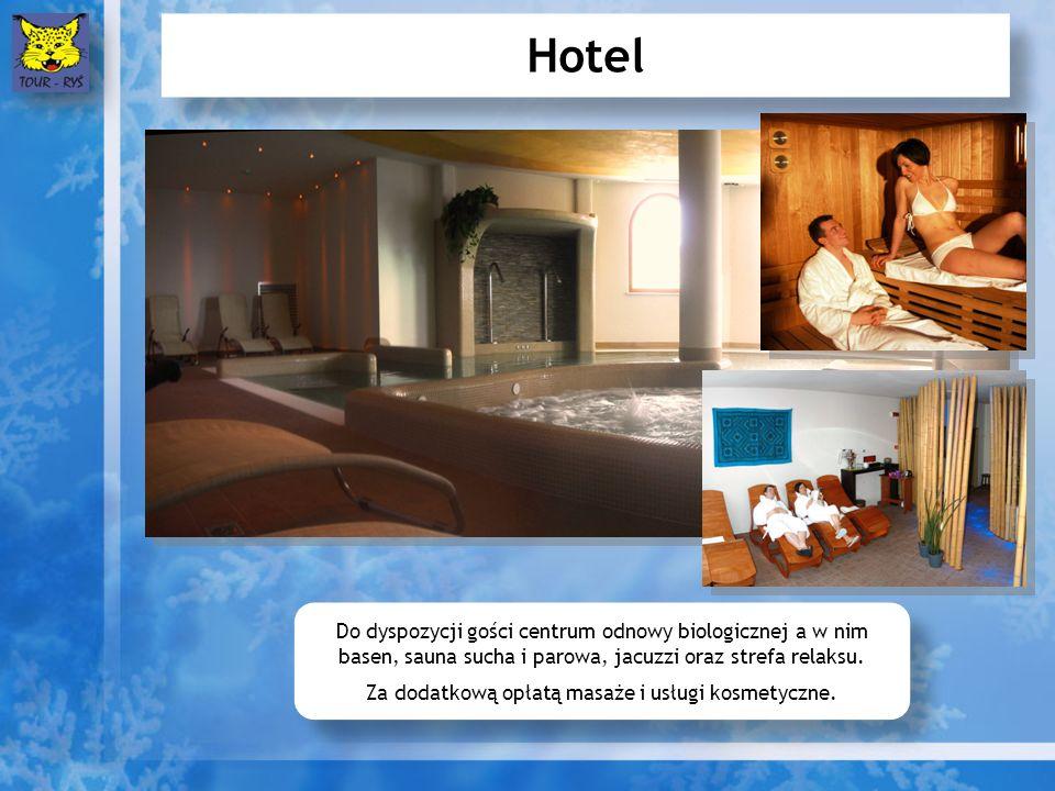 Hotel Do dyspozycji gości centrum odnowy biologicznej a w nim basen, sauna sucha i parowa, jacuzzi oraz strefa relaksu.
