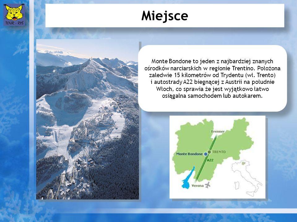 Miejsce Monte Bondone to jeden z najbardziej znanych ośrodków narciarskich w regionie Trentino.