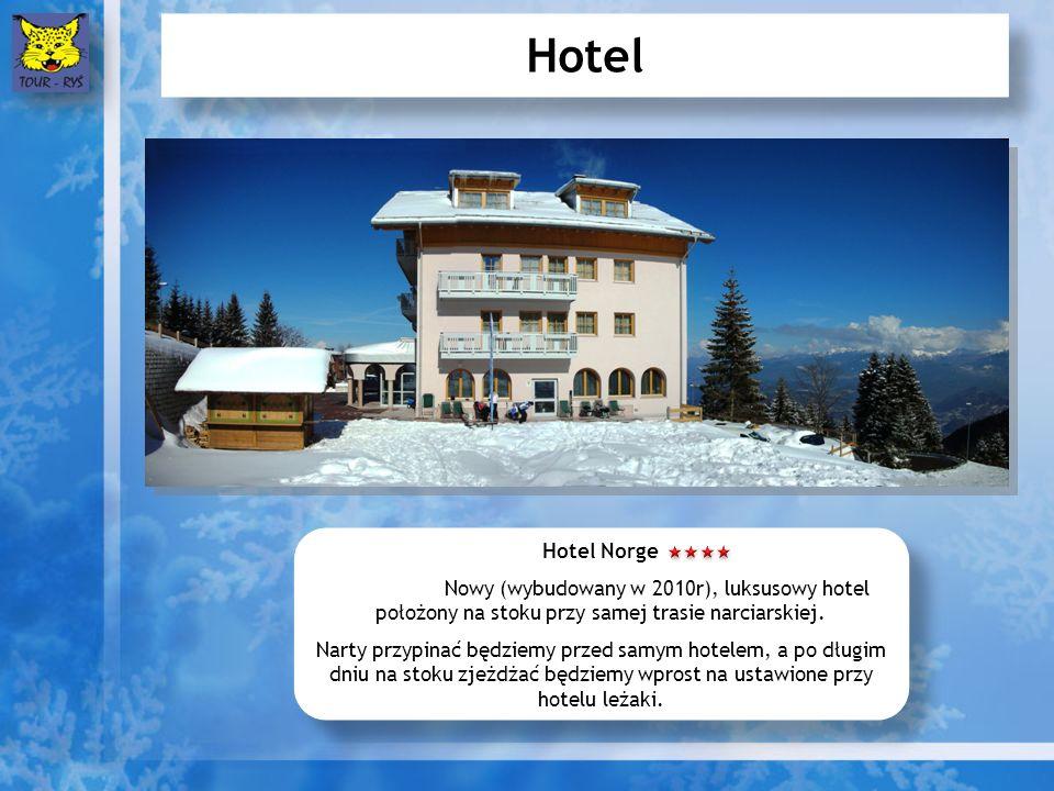 Hotel Hotel Norge Nowy (wybudowany w 2010r), luksusowy hotel położony na stoku przy samej trasie narciarskiej.