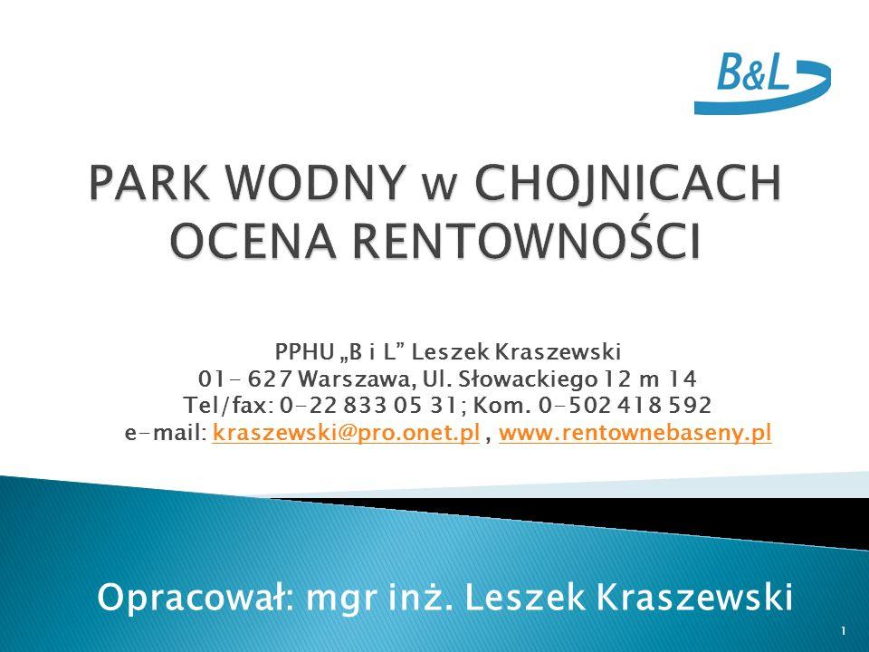 PPHU B i L Leszek Kraszewski 01- 627 Warszawa, Ul.