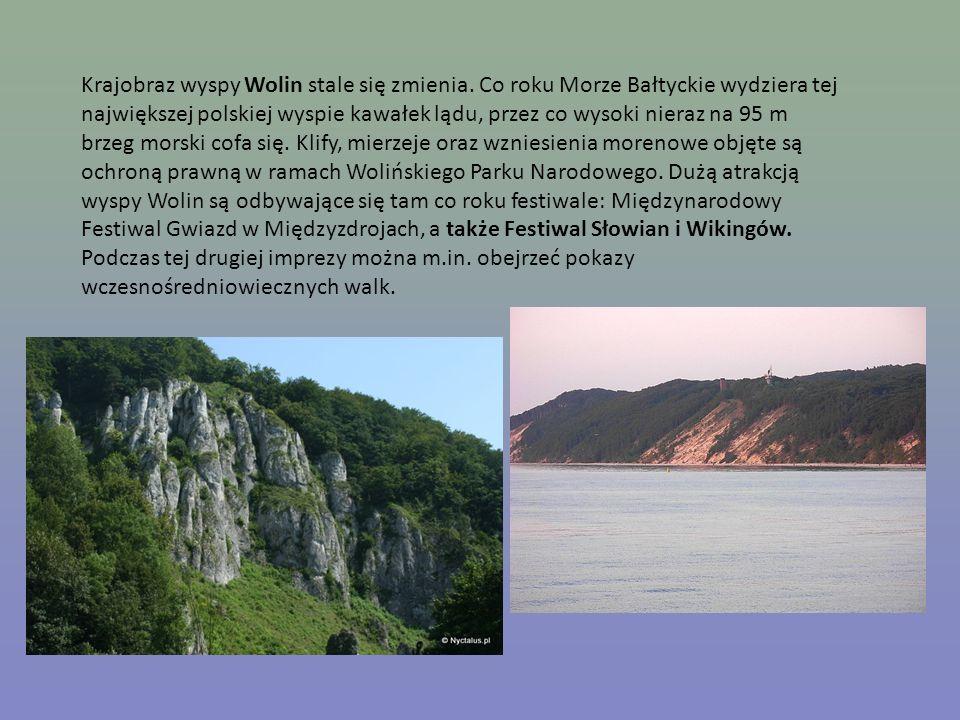 Krajobraz wyspy Wolin stale się zmienia. Co roku Morze Bałtyckie wydziera tej największej polskiej wyspie kawałek lądu, przez co wysoki nieraz na 95 m