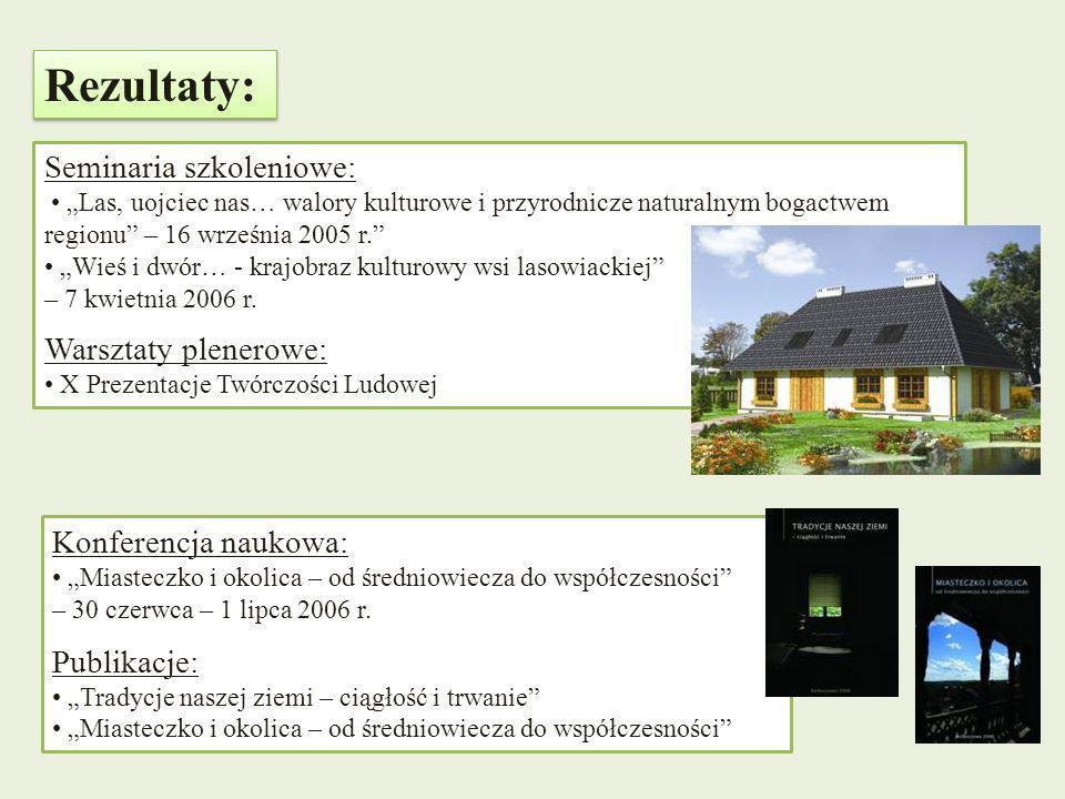 Seminaria szkoleniowe: Las, uojciec nas… walory kulturowe i przyrodnicze naturalnym bogactwem regionu – 16 września 2005 r. Wieś i dwór… - krajobraz k